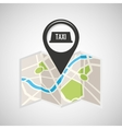 tax service map pin pointer design vector image