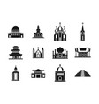 temple icon set simple style vector image vector image