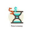 Time is money business concept vector image vector image