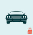 vintage muscle car icon vector image vector image