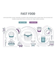 Website Banner and Landing Page Fast Food vector image vector image