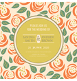 Wedding vintage invitation with flowers vector image vector image