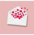 white envelope pink background vector image