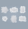 white snowflake frames collection set vector image vector image