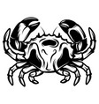 with monochrome crab for menu vector image vector image