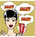Woman with Sale Signs vector image vector image