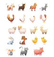 1607i126010Pm003c23farm animals retro cartoon vector image