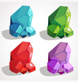 a set of precious nuggets vector image vector image