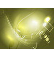 abstract conceptual music background vector image vector image