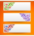 Abstract flower ornamental horizontal banners vector image vector image