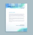 abstract modern letterhead design vector image vector image