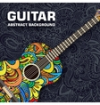 Abstract retro music guitar on the background of vector image vector image