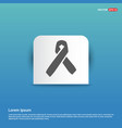 aids awareness ribbon sign or icon - blue sticker vector image