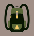 backpack map and compass for camping tourism vector image vector image