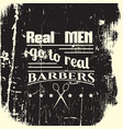 barbers quote typographical background about hair vector image vector image