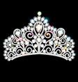 beautiful diadem crown tiara female with precious vector image vector image