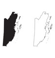 belize country map black silhouette and outline
