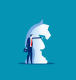 big knight chess piece and business leader vector image