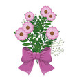 bouquet of flowers icon vector image vector image