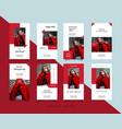 bundle minimalist social media post instagram vector image vector image
