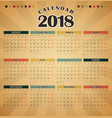 calendar for 2018 template flyer design vector image
