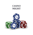 Casino chips isolated on white background vector image vector image
