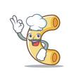 chef macaroni character cartoon style vector image