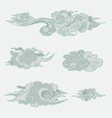 Chinese clouds vector image