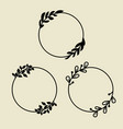 Circle laurel wreath frames with leaves decor