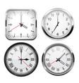 clock 3d set vector image vector image