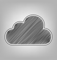 cloud sign pencil sketch vector image vector image