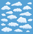 clouds isolated on blue sky cloudy bright vector image vector image