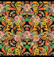 colorful floral vintage seamless pattern vector image vector image