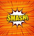 comic book orange template vector image vector image