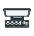 computer with keyboard vector image vector image