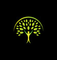 creative person body tree logo design vector image vector image