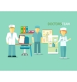 Doctors Team People Group Flat Style vector image vector image