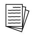 document icon on white background document sign vector image