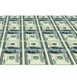Dollars background vector image vector image
