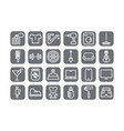 e-commerce icons set icons for a store different vector image vector image