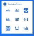 equalizer icons vector image vector image