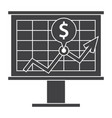 financial strategy icon vector image vector image