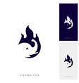fire elephant logo design template vector image
