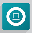 flat laptop icon vector image vector image
