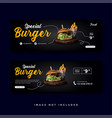 food and culinary banner promotion collection vector image vector image