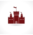 fortress icon vector image vector image