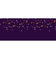 fun confetti purple horizontal seamless border vector image vector image