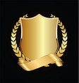 gold and black shield with gold laurels 05 vector image vector image