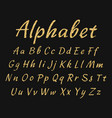 handwritten alphabet uppercase and lowercase vector image vector image