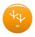 hen step icon orange vector image vector image